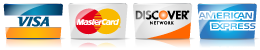 accept visa, mastercard, discover, and american express